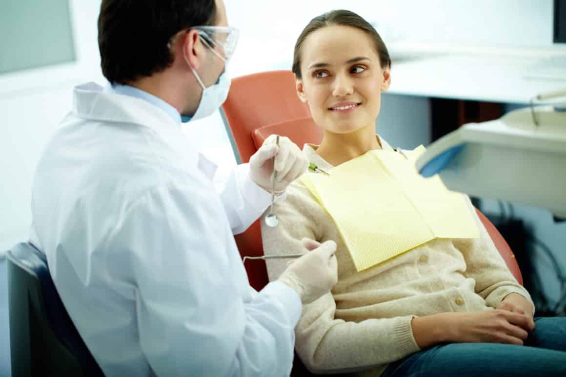 woman at the dentist