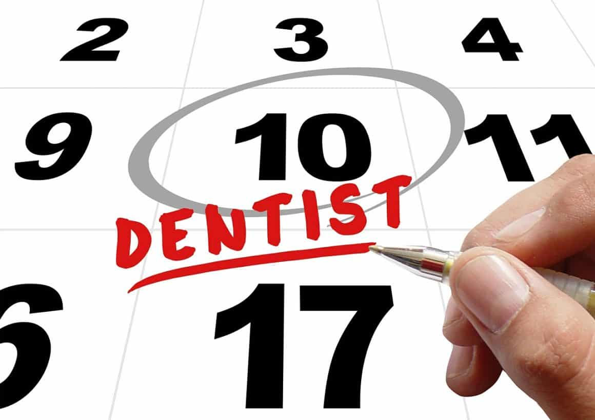 marking a dentist appointment on the calendar