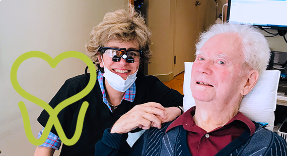 Dr. Kate Mahallati with a patient at westboro dental clinic